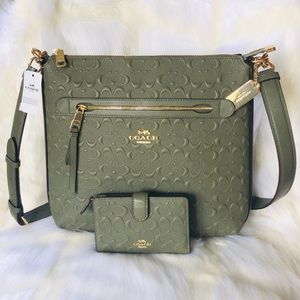 💃COACH SET Mae File Crossbody and Wallet